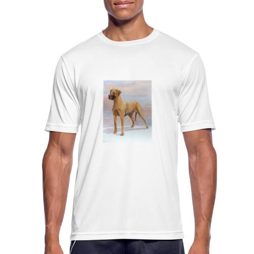 Great Dane Yellow - Herre T-shirt svedtransporterende