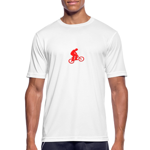 Red BMX Rider - Men's Breathable T-Shirt