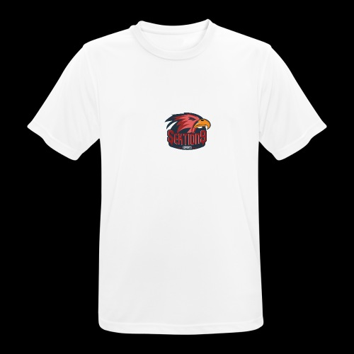 Sektion9 logo Rot - Männer T-Shirt atmungsaktiv