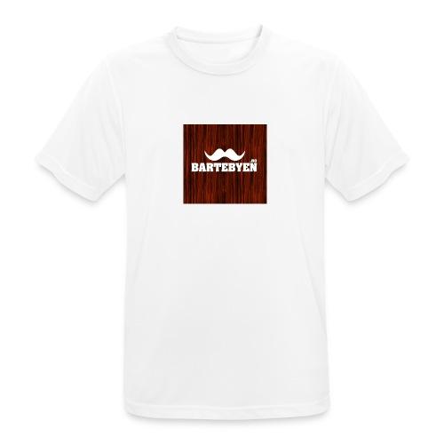 logo bartebyen buttons - Pustende T-skjorte for menn