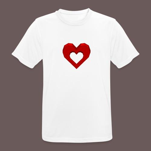 Heart Illusion - Herre T-shirt svedtransporterende