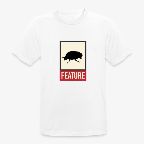 Bug feature   Web humor   Geek   Developer - Men's Breathable T-Shirt