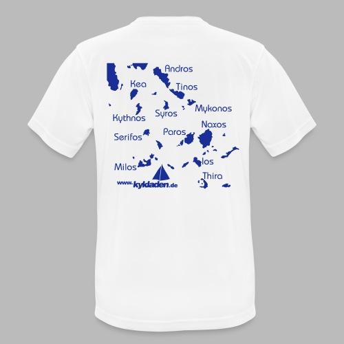 Kykladen Griechenland Crewshirt - Männer T-Shirt atmungsaktiv