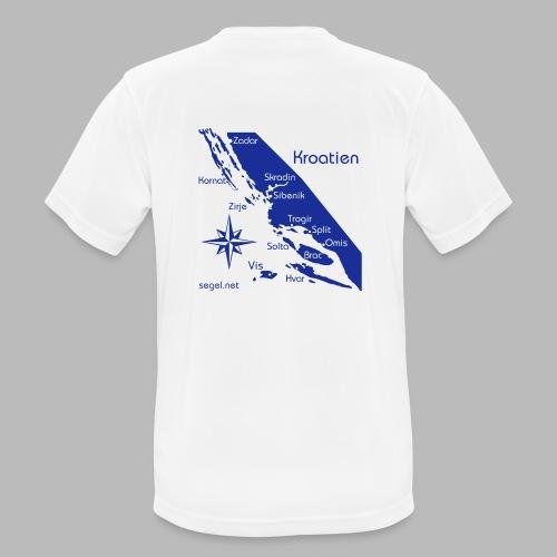 Crewshirt Urlaub Motiv Kroatien - Männer T-Shirt atmungsaktiv
