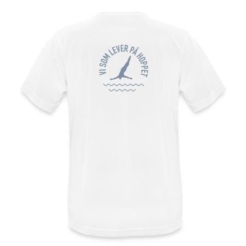 Vi som lever på hoppet S - Andningsaktiv T-shirt herr