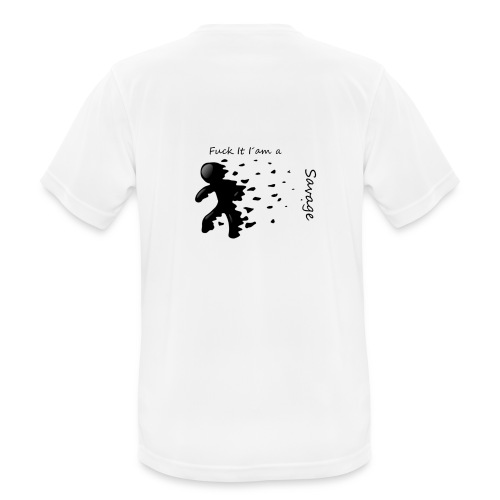 Savage Stick man Tee And Hoodie - Herre T-shirt svedtransporterende