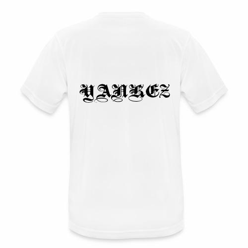 Yankez Schulter Schriftzug - Männer T-Shirt atmungsaktiv