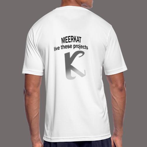 Première collection MEERKAT - logo et slogan - T-shirt respirant Homme