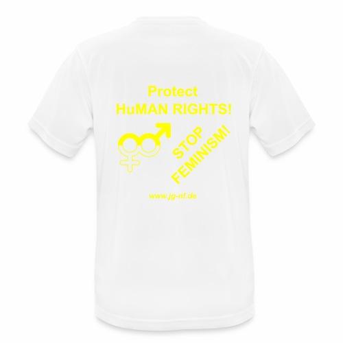 Protect HuMAN Rights - Stop Feminism - Männer T-Shirt atmungsaktiv