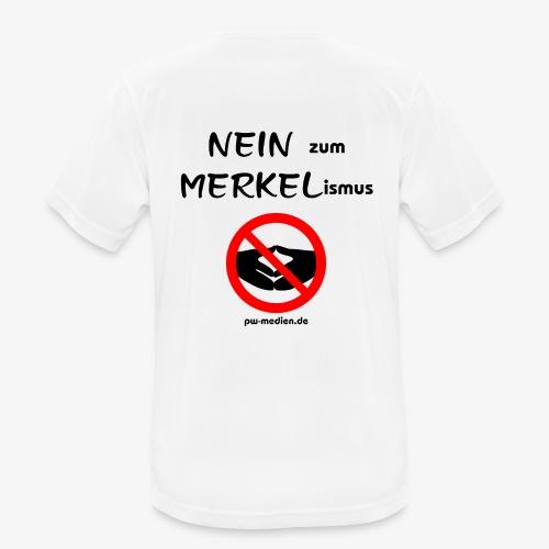 NEIN zum MERKELismus - Männer T-Shirt atmungsaktiv