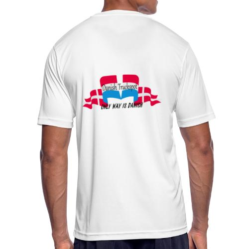 Danish Truckspot, ONLY WAY IS DANISH - Herre T-shirt svedtransporterende