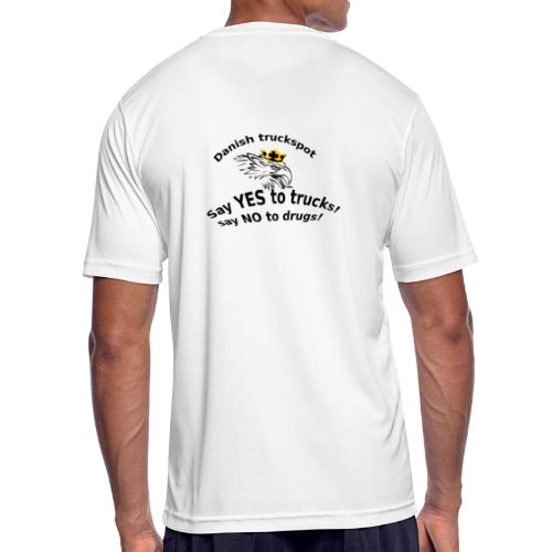 Say YES to trucks! Say NO to drugs - Herre T-shirt svedtransporterende