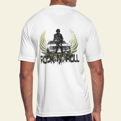 rock n roll camaro - Herre T-shirt svedtransporterende