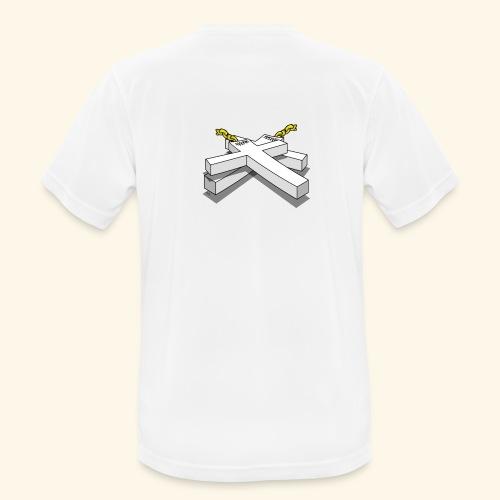 Gold Crosses - Maglietta da uomo traspirante