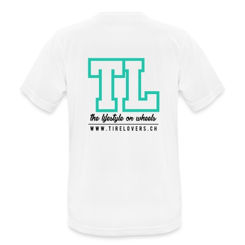 Tirelovers TL in Black - Männer T-Shirt atmungsaktiv