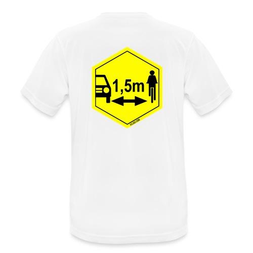 Turvaetäisyys 1,5 m - miesten tekninen t-paita