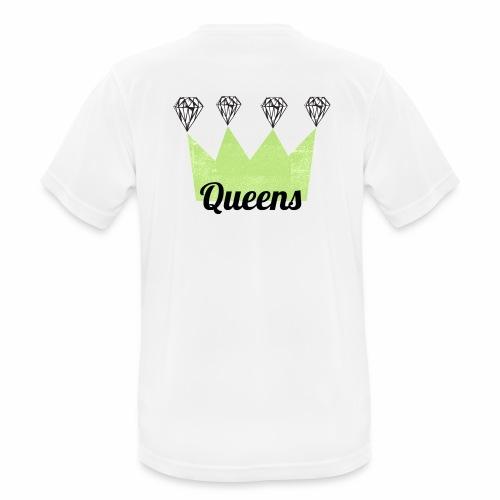 logo_queens_4_vihr_musta - miesten tekninen t-paita