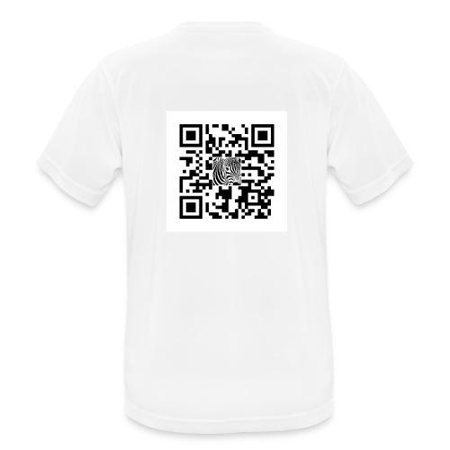 QR Code Want a free belly - Mannen T-shirt ademend actief