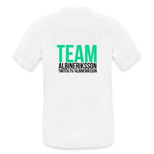 Team albinerikss0n Svart - Andningsaktiv T-shirt herr