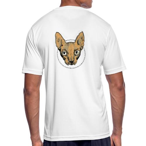 sphynx white bg - Andningsaktiv T-shirt herr