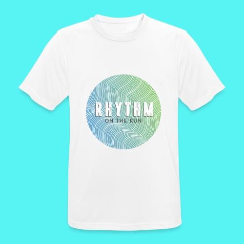 Rhythm On The Run Logo - Men's Breathable T-Shirt