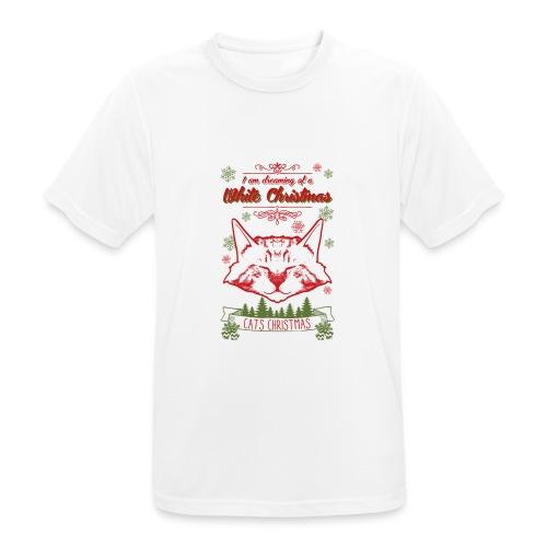 Weihnachtskatze - Männer T-Shirt atmungsaktiv