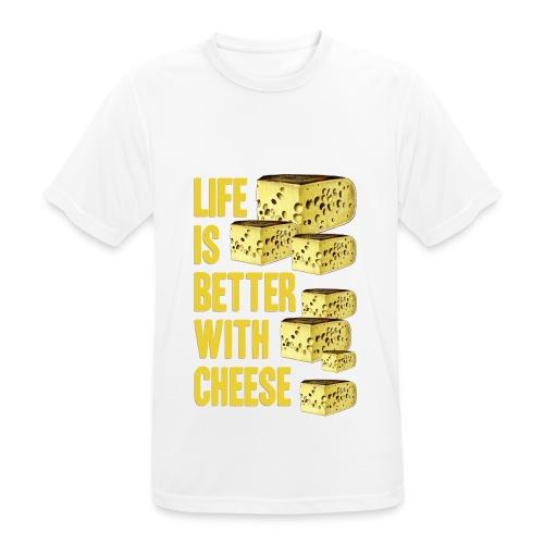 life´s better with cheese - Männer T-Shirt atmungsaktiv