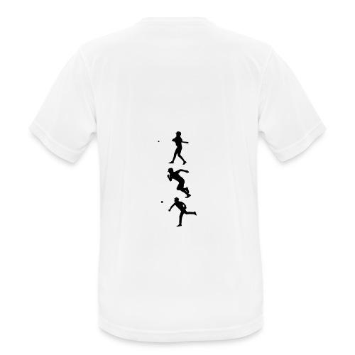 Hit Run Throw + Logo Arm - Männer T-Shirt atmungsaktiv