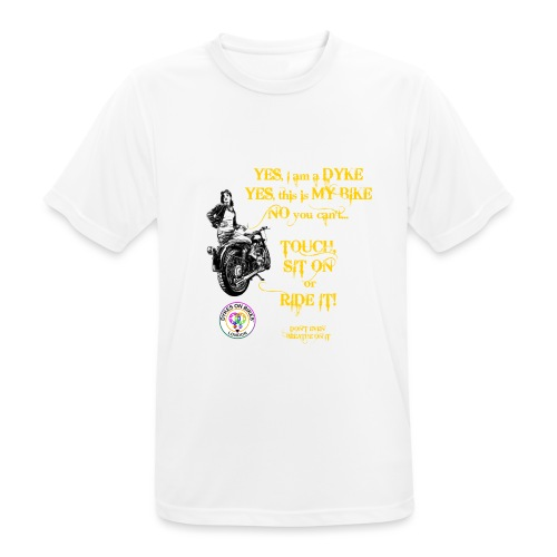 Member no touch YELLOW with DOB Logo - Men's Breathable T-Shirt