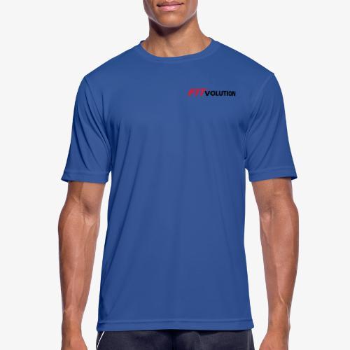 Kleines, schwarzes Fitvolution-Logo - Männer T-Shirt atmungsaktiv