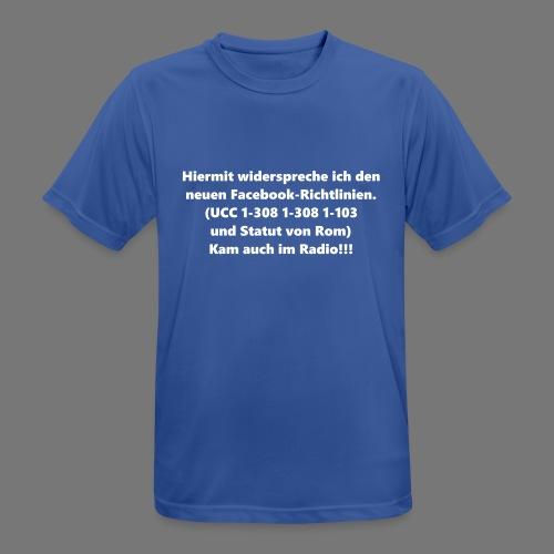 Facebook-AGB - Männer - Männer T-Shirt atmungsaktiv
