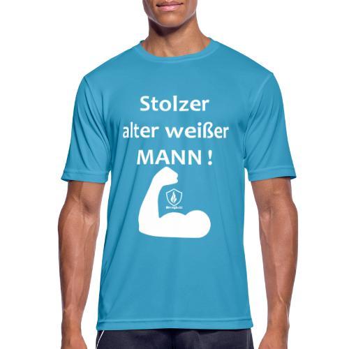 Stolzer alter weißer Mann - Männer T-Shirt atmungsaktiv