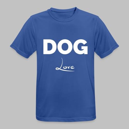 DOG LOVE - Geschenkidee für Hundebesitzer - Männer T-Shirt atmungsaktiv