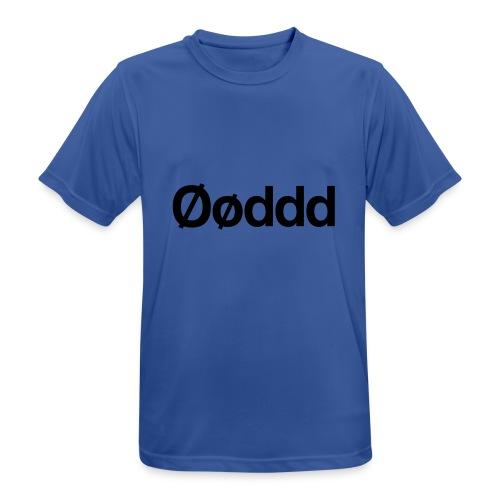 Øøddd (sort skrift) - Herre T-shirt svedtransporterende