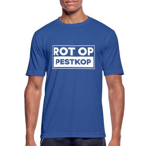 Rot Op Pestkop - Block White - Mannen T-shirt ademend actief