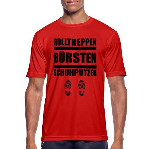 Rolltreppenbürstenschuhputzer - Männer T-Shirt atmungsaktiv