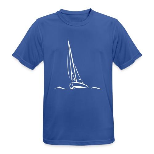 Segelboot - Männer T-Shirt atmungsaktiv