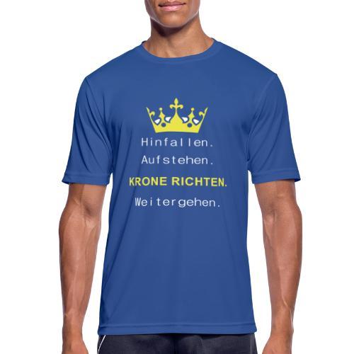Krone Richten - Männer T-Shirt atmungsaktiv