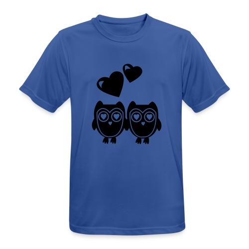 verliebte Eulen - Männer T-Shirt atmungsaktiv
