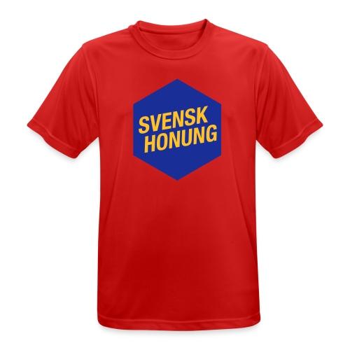 Svensk honung Hexagon Blå/Gul - Andningsaktiv T-shirt herr