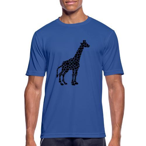 Giraffe (black) - miesten tekninen t-paita