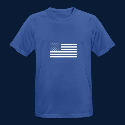 Stars and Stripes White - Männer T-Shirt atmungsaktiv