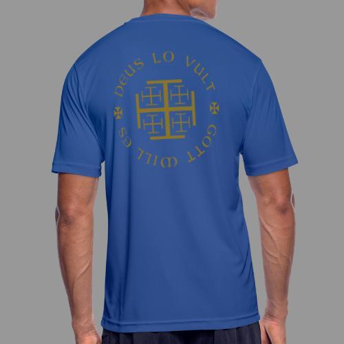 deus lo vult - Gott will es - Männer T-Shirt atmungsaktiv