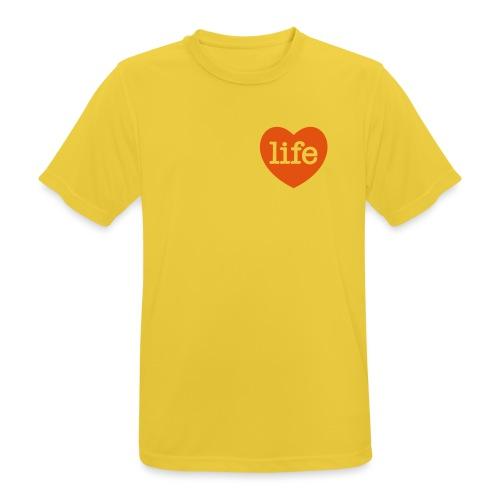 LOVE LIFE heart - Men's Breathable T-Shirt