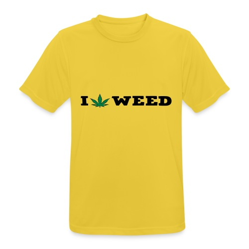 I LOVE WEED - Men's Breathable T-Shirt
