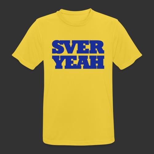 SVERYEAH GulBlå - Andningsaktiv T-shirt herr