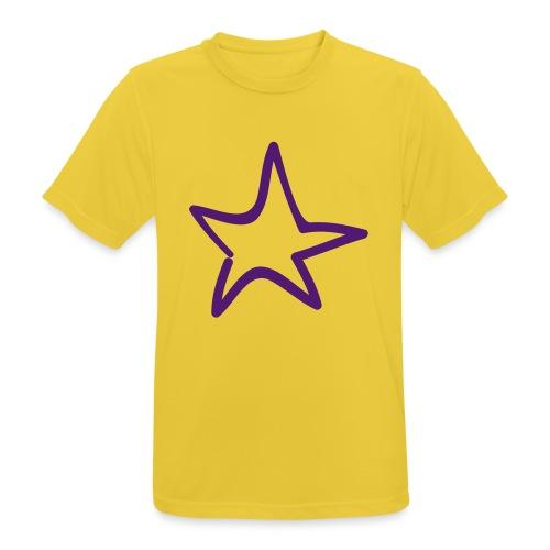 Star Outline Pixellamb - Männer T-Shirt atmungsaktiv