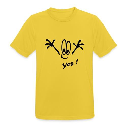 Yes ! Comic - Männer T-Shirt atmungsaktiv
