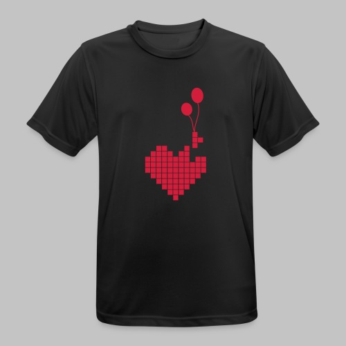 heart and balloons - Men's Breathable T-Shirt