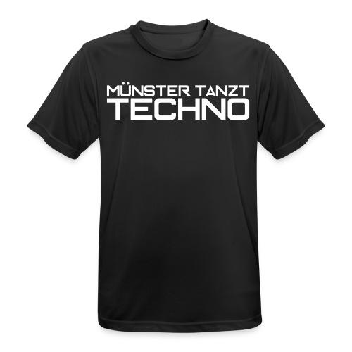 MÜNSTER TANZT TECHNO - Männer T-Shirt atmungsaktiv